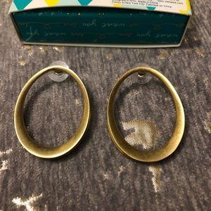 NWT Stella & Dot was Gold Georgia Hoop Earrings